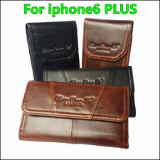 Genuine Leather Belt Clip Case Holster Pouch Case Cover for iphone6 Plus 5.5''