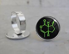 Choose Your Molecule Silver Plated Adjustable Ring Chemistry Science