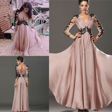 Women Long Lace Bridesmaid Wedding Prom Formal Party Evening Gown Cocktail Dress