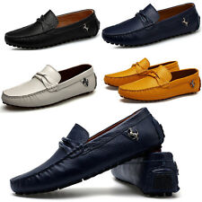 Fashion Mens Casual Soft Cowhide Leather Slip On Loafers Moccasins Driving Shoes