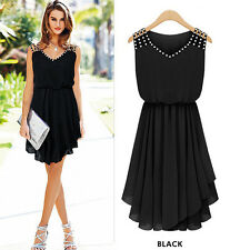 Women Lady Sexy Summer Casual Evening Party Wedding Prom Dress Beach Sun Dresses