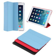 For iPad Air 2 Slim Genuine Leather Smart Case Cover Stand KK