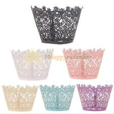 12PCS Fashion Filigree Vine Cupcake Wrappers Cases Wedding Birthday Party Shower