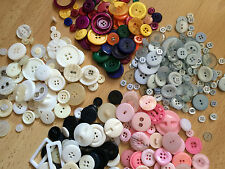 Assorted Buttons, mixed colours, Various Pack sizes, Arts Crafts Sewing