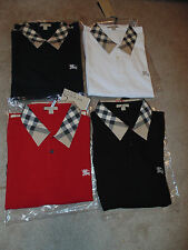 Burberry Brit mens short sleeve nova check collar polo shirt tshirt s,m,l,xl 3xl