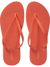 NWT Ladies FLIP FLOPS Old Navy Thong Sandals ORANGE Shoes SIZE 7M,8M,9M,10M,11M