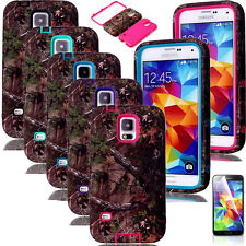 Real Tree Camo Hybrid Rugged Rubber Matte Case Cover for SAMSUNG GALAXY S5 i9600