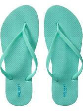 NWT Ladies FLIP FLOPS Old Navy Thong Sandals SEAFOAM GREEN Shoes SIZE 7M, 8M, 9M
