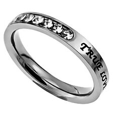 True Love Waits Purity Ring, Stainless Steel, Christian Church Chastity GIFT BOX