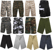 Cargo Shorts Zipper Fly Fatigue Camouflage Military Long Length BDU Rothco