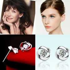 HOT Sale Lady Fashion Jewelry s925 Rotary Love Stud Earring Wedding Party Earrin