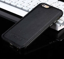 2015 Hot Aluminum Metal Frame Leather Back Case Cover Skin For iPhone 5 6 6 PLUS