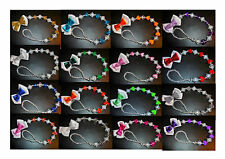 Crystal Bling Baby Love Hearts 23 Colours Romany dummy soother pacifier clip
