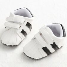 Classic Black White Baby Boy Girl Soft Sole Crib Shoes Infant Toddler Sneakers 3