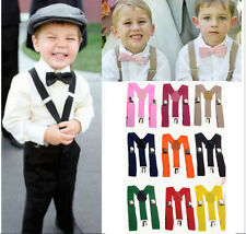 Lovely Baby Kid Boys Girls Clip on Suspender Y Back Child Elastic Suspenders