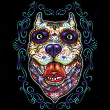 Day Of The Dead Pitbull Sugar Skull Dog Puppy Animal T-Shirt Tee