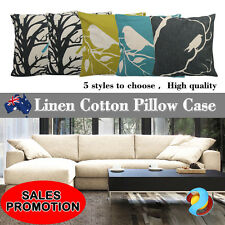 New Bird Vintage Linen Cotton Cushion Cover Home Decor Throw Pillow Case 45x45cm