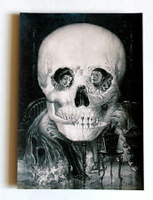 the style of Salvador Dali, love Piero skull canvas print giclee 8X12&12X17