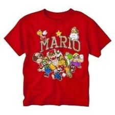 Youth Boys Nintendo Video Game Super Mario Bros. Characters Red T-Shirt Tee