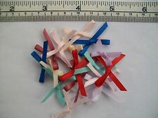 10x3mm Ribbon Bows-Assorted,Red,Turquoise,Cream,White,Peach,Pinks-Sewing,Craft
