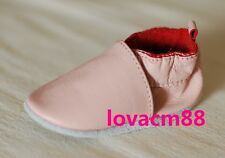 *R88 PINK RUJI baby infant toddler adult man cow soft leather crib shoe slipper