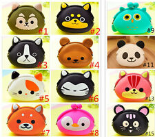 HO Women Kid's Storage Cute Animal Silicone Coin Small Bag Change Wallet Purse