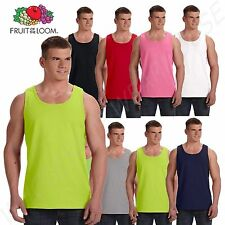 Men's Plain T-Shirts Tank Top Muscle Gym Sleeveless Tee S~XL A-Shirt 100%Cotton