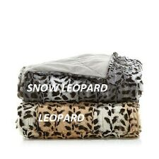 Highgate Manor Faux Leopard Throw -  LEOPARD or SNOW LEOPARD - CHOICE -   New