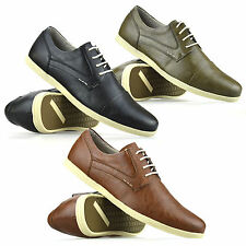 Mens Lace Up Casual Smart Gym Sport Walking Summer Driving Trainers Shoes Size