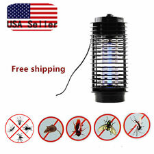 Electric Mosquito Fly Bug Insect Zapper Killer With Trap Lamp 110V Black  EA