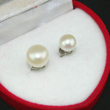 Natural White Freshwater Pearl Beads 6mm 8mm 925 Sterling Silver Stud Earrings