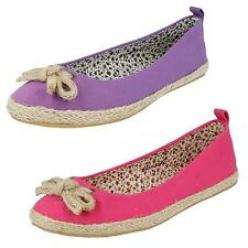 Ladies Spot On Canvas Espadrilles F2234
