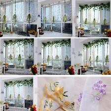 1pcs Flower color Tulle Door Window Curtain Drape Panel Sheer Scarf Valance