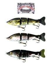 """22nd CENTURY TRIPLE TROUT 6"""" SLOW SINKING BASS STRIPER MUSKY LURE SELECT COLOR"""