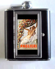 Gino Boccasile Topless Poster 5oz Flask Cigarette Case ID Wallet USA Made