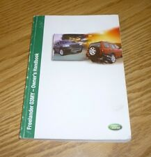 2003 LAND ROVER FREELANDER OWNERS MANUAL HANDBOOK 03