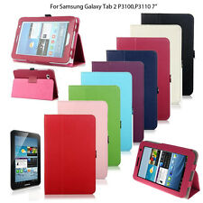 """Pu Leather Smart Stand Case Cover For Samsung Galaxy Tab 2 II 7"""" P3100 P3100"""