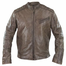 Xelement Mens Omega Distressed Brown Leather Motorcycle Jacket