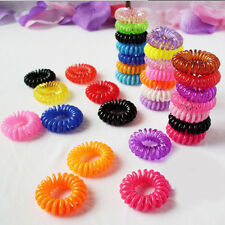 New 10Pcs Women Girls Colorful Elastic Rubber Hair Band Rope Ponytail Holder HOT
