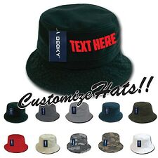 Custom Embroidered Personalized Customized Decky Fishermen's Polo Bucket Hat 961