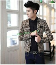 2015 Hot New Men's Blazers Slim leopard one Breasted Casual Suits coat jacket