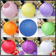 "8"" 10"" 12"" 14"" 16"" Multicolor Chinese paper Lantern Wedding Party Decoration New"