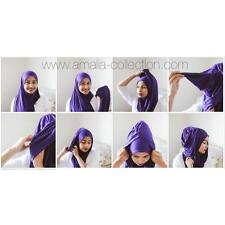 ELSA Instant Cotton Jersey Plain Scarf Hijab Shawl Stylish Exclusive on-the-go