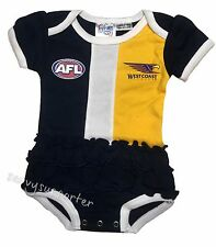 West Coast Eagles AFL Girls Baby Footysuit 'Select Size' 000-1 BNWT