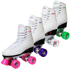 New Freesport Retro Childrens & Womens Quad Roller Skates Colours Wheels