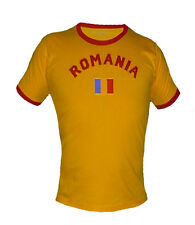 Romania Soccer Futbol Jersey T-shirt Uniform Country Flag 100% Cotton