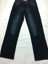 New Mens Fashion Straight Leg Washed Jeans Blue