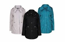 NEW LADIES CASUAL ANORAK JACKET HIP LENGTH SIZE 10-24 GREEN, BLACK & STONE