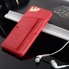 Shockproof TPU Leather Credit Card ID Holder Wallet CaseCover for iPhone/Samsung