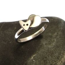 Handmade 925 Sterling Silver Fox Ring - Stacking Ring